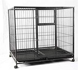 Lovely PET'S Kingdom-Large Dog Crate XXL Stronge and Durable Metal Dog Cage, Heavy Duty Pet Kennel Playpen House, Medium a...
