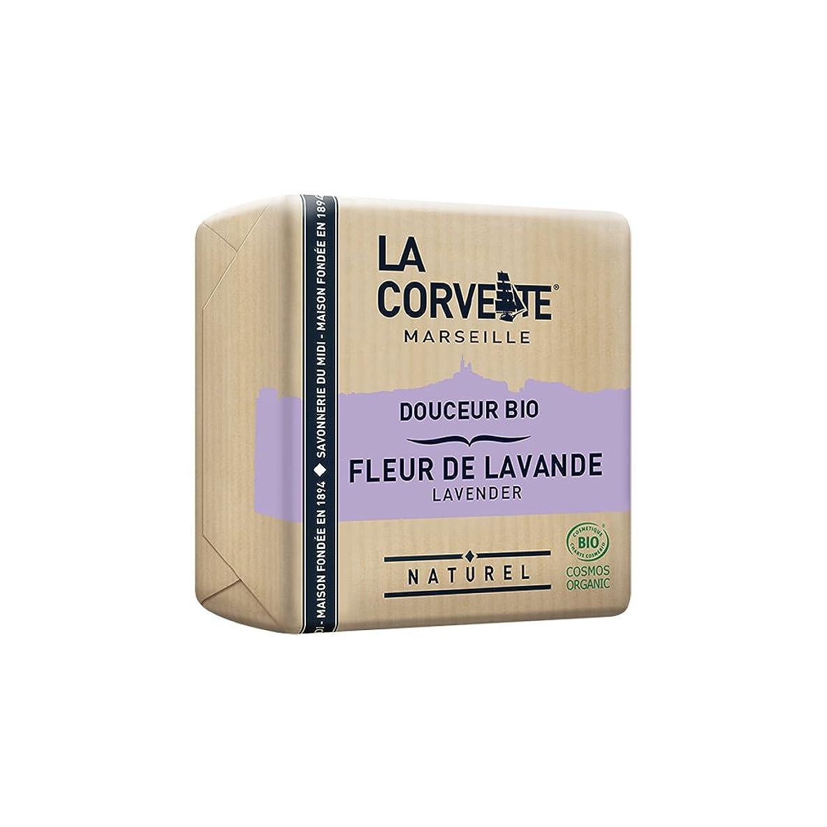 休暇中で立場La Corvette(ラ?コルベット) サボン?ドゥスール?ビオ ラベンダー 100g