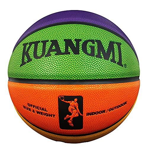 Ballon de Baloncesto Balón De Baloncesto para Exteriores E Interiores De Entrenamiento De Juego De Cuero De PU De Tamaño 7 De Baloncesto
