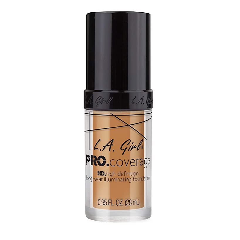 プラス脅威薬海外直送品 L.A. Girl Pro Coverage Liquid Foundation 28ml, Nude Beige