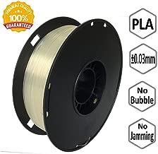 NOVAMAKER 3D Printer Filament - Transparent 1.75mm PLA Filament, PLA 1kg(2.2lbs), Dimensional Accuracy +/- 0.03mm