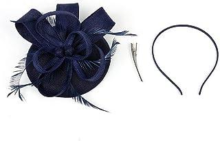 dressfan Fascinator Cambric Flower Pequeño Sombrero Fiesta banquete Novia Adornos para el pelo