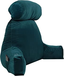 Bharat Pillows - Bed Back Rest Pillow, Backrest Reading Bed Rest Pillow with arms Fill with Fluffy conjugated Poly, Detach...