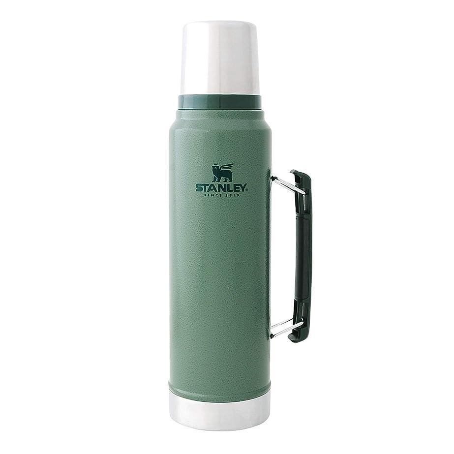 フラスコ幸運な縮れたSTANLEY(スタンレー) 新ロゴ クラシック真空ボトル 1L 各色 水筒 (日本正規品)
