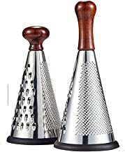 DQM Multifunctional Fashion Multi-Faceted Stainless Steel Grater, Use for Large, Medium, coarse or fine Grating and Slicing on Cheeses, Vegetables, Cucumbers, Carrots Roots