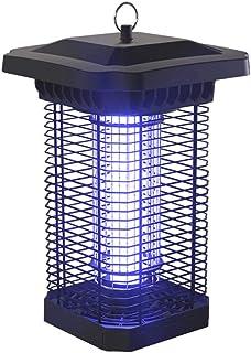 Lámpara para matar insectos, trampa eléctrica para matar mosquitos, luz ultravioleta anti moscas de 18 vatios, alto voltaje potente de 4000 V, luz eléctrica a prueba de agua para interiores y exterior