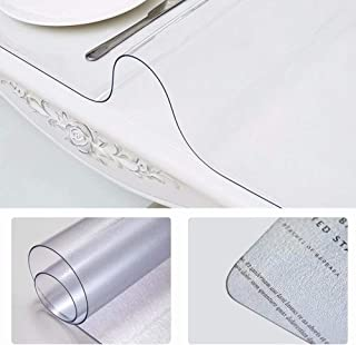 """Home-Cal 2mm Thick Clear Table Cover Protector - Waterproof PVC Soft Square Desk Pad for Office and Home(20"""" x 58"""", 1pcs, Clear)"""