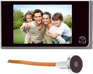 comprar comparacion Timbre digital con pantalla LCD de 3,5 pulgadas y mirilla de 120 grados para puerta, con cámara infrarroja a color; funcio...
