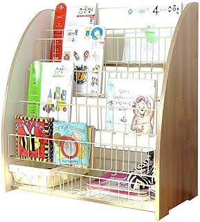 TONGSH Estante para Libros de mostrador de Alambre, Estante para Libros, Organizador de folletos de 6 Niveles, Estante Abierto para Libros para niños pequeños