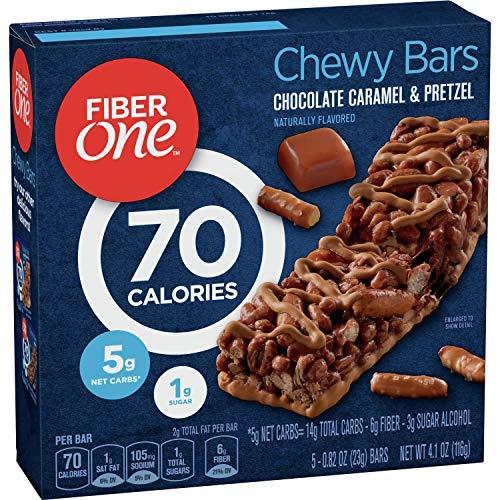 Fiber One 70 Calorie Bars, Chocolate Caramel and Pretzel, 5 Bars