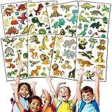 Powmag 8 Blatt Tier Dino Tattoos Kinder, Tier Dino Kindertattoos Aufkleber, Dinosaurier Temporäre...