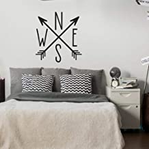Fifikoj Wall Sticker North East South West Compass Arrows Wall Decal Arrow Cross Nautical Theme Decor l Decal for Bedroom Home Decoration42x39cm