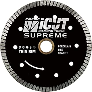 4.5-Inch Thin Rim Turbo Diamond Blade - Professional Grade - Reinforced on both Sides For Cutting Granite, Ceramic, Marble,