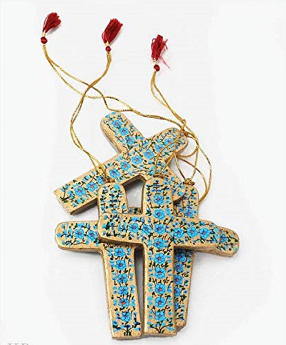 Luxury Baba Art and Crafts handmade hanging ornaments cross Christmas online shopping