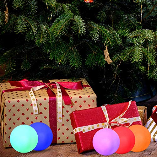 YESIE 6Packs Led Pool Ball Lights,3-Inch Color Changing LED Orb Night Light, Waterproof Hot Tub Floating Ball,Cordless Glow Beach Ball, Bath Toy,Pool Toys,Home Christmas Decoration