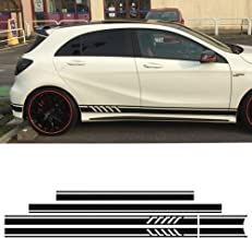 Edition 1 Style Side Skirt Racing Stripes Roof Hood Bonnet Vinyl Decal Stickers for Mercedes Benz A Class W176 A45 AMG A200 A180 A250 (5D Carbon fibre)