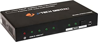 J-Tech Digital HDMI 4K@60Hz 444 HDR Digital to Analog Audio Decoder/Converter and Extractor via Coaxial Optical/SPDIF and RCA [JTECH-H2DM]