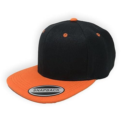 73b437e4d19 GREAT CAP Blank Adjustable Snapback Cap-Classic Flat Bill Visor Hat  Baseball Cap
