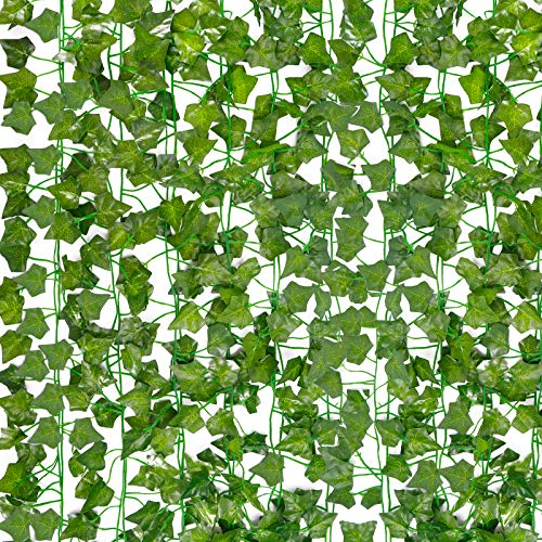 HATOKU 18 Pack Fake Vines for Room Decor Fake Ivy Leaves Garland Greenery Hanging Plants for Bedroom Aesthetic Decor Wedding Wall Decor, 126 Feet