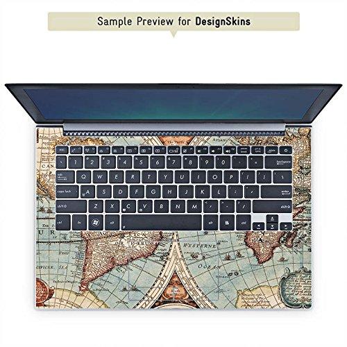 Cover kompatibel mit mySN XMG P502 Pro Aufkleber Schutz Folie Design Sticker Skin Vintage Weltkarte Karte Map