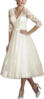 47bfbda5993b9 Amazon.com: 3/4 Sleeve - Wedding Dresses / Dresses: Clothing, Shoes ...