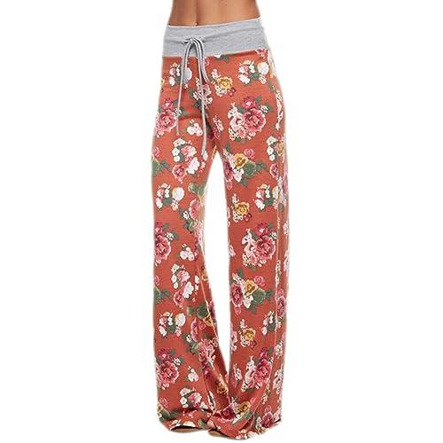 a6610c9c7ed9 Marilyn   Main Women s Comfy Soft Stretch Floral Polka Dot Pajama Pants
