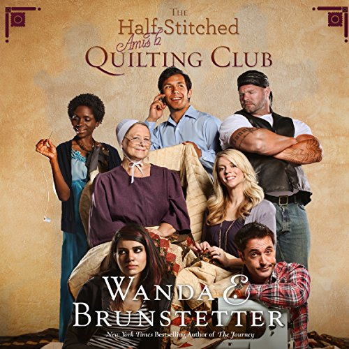 The Half-Stitched Amish Quilting Club audiobook cover art