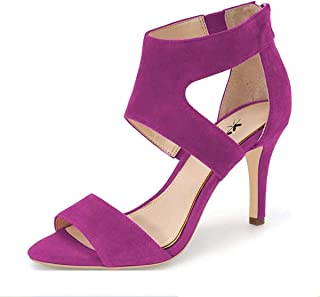 7f64c9056b0d XYD Prom Dancing Shoes Elegant Open Toe Strappy Heeled Sandals Ankle Wrap  Dress Pumps for Women