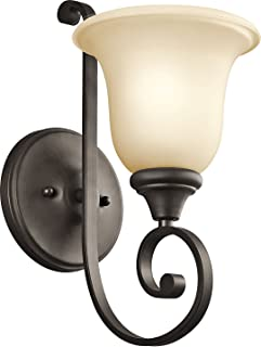 Kichler 43170OZ Monroe Wall Sconce 1-Light, Olde Bronze