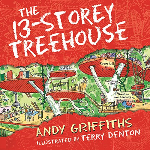 The 13-Storey Treehouse audiobook cover art