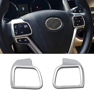 Beautost Fit for Toyota Highlander 2015 2016 2017 2018 2019 Wheel Steering Trim Panel Cover Matte