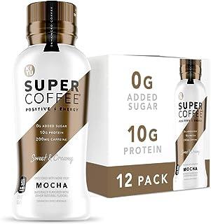 Kitu Super Coffee, Iced Keto Coffee (0g Added Sugar, 10g Protein, 80 Calories) [Mocha] 12 Fl Oz, 12 Pack | Iced Coffee, Pr...