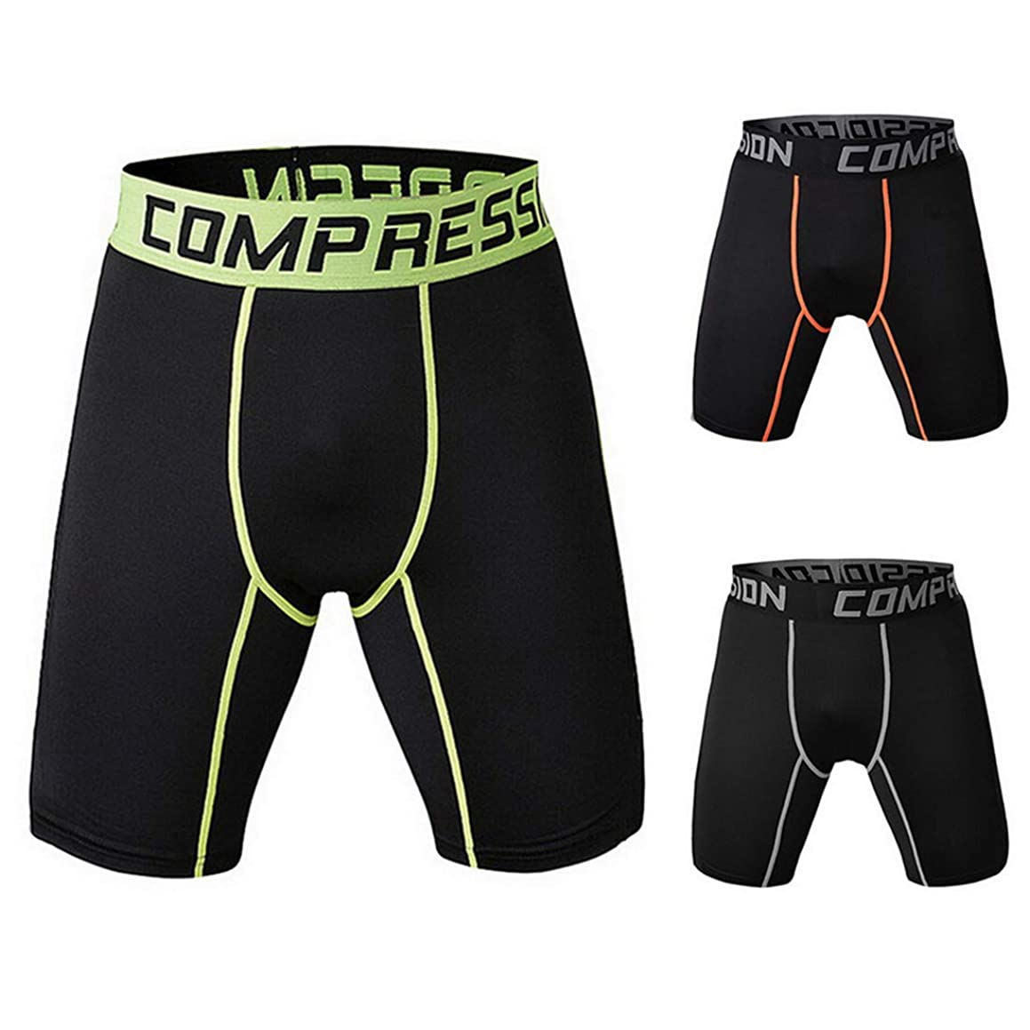 Litthing Gym Shorts Fitness Short Tights Skinny Pants Dry Sportswear for Mens Outside