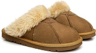 UGG Slippers Robert Australian Sheepskin Wool Winter Home Cozy Slipper Shoes Best Gifts for Women Men