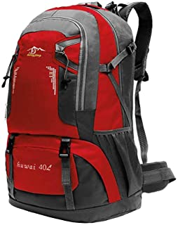 OcioDual Mochila Roja 40 litros 40L Impermeable con Cierres Asas y Correas de Seguridad Senderismo Trekking Camping