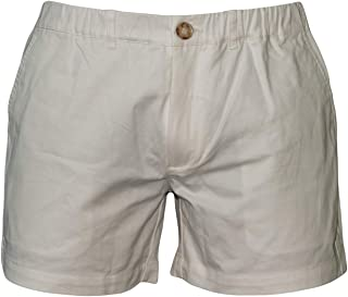 "Meripex Apparel Men's 5.5"" Inseam Elastic-Waist Short Shorts 4-Way Stretch (Medium, Ivory)"