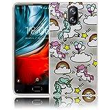 Compatible para Doogee Mix Lite 4G Dual 5.2' Unicornio bebé transparent Funda protectora de silicona Caso de la cubierta del caso de parachoques