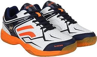 Yonex Tru Cushion & Tru Shape Non-Marking Badminton Court Shoes, White/Orange -9UK