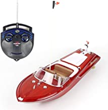 KRCT Retro Style Remote Control Yacht Model 2.4GHz 4CH Radio Control Speed Boat 25km/h High Speed RC Ship with 7.4V Rechargeable Battery 100M Remote Control Distance