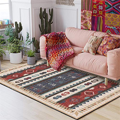 ANBAI Vintage Indiase etnische stijl tapijt woonkamer anti-slip en anti-rimpel vloer mat slaapkamer tapijt tapijt Kids kamer