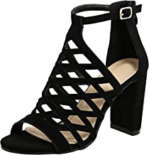 TravelNut Summer Juliette Strappy Gladiator Block Heel Dress Sandals for Women (Assorted Colors/Low and High Heels)
