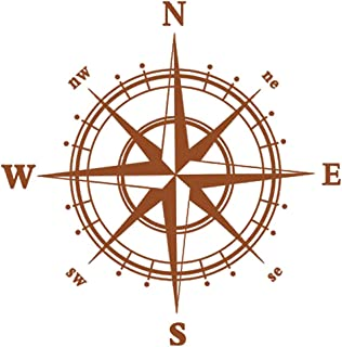 BooDecal Navigation Compass Wall Decals Stickers Decors for Living Room
