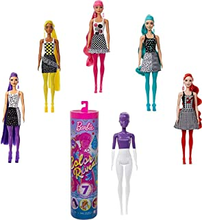 Barbie Color Reveal Doll - Color Block Series with 7 Surprises for Kids 3 Years Old & Up GTR94