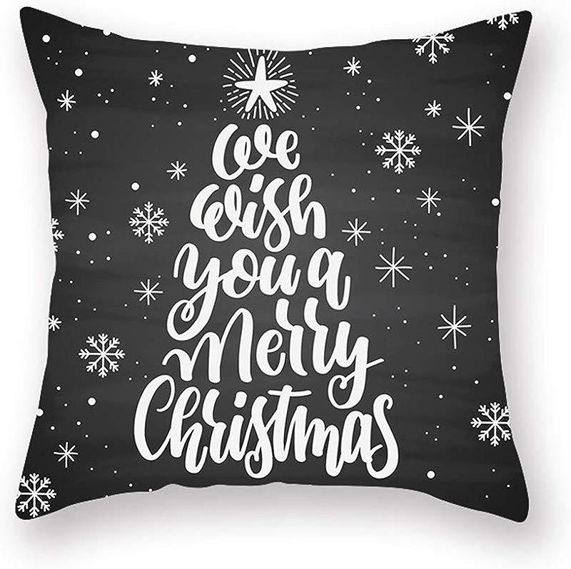 Esonbuy Comfortable Pillowcase Christmas Pillow Case Digital Printed Pillow Cushion