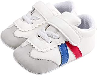 Baby Sneakers Infant Boy Girl Anti-Slip First Walkers Suede Round Toe Crib Shoes