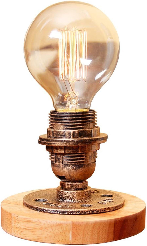 American Country Country Country kreative Holztisch Lampe, Retro-Glaskolben, industrielle Stil Schlafzimmer Bedside Studie Lampe, Bar Cafe Lampe, E27, Messing Farbe B07G2Y1TRJ | Ausgezeichnetes Handwerk  63745f