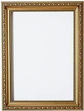 Bilderahmen, Fertig zum Aufhängen oder Aufstellen, Kunstvoller Shabby-Chic-Stil, Bild/Foto/Poster-Rahmen mit MDF-Rückwand und hoher Klarheit, Styrol, Bruchsicheres Plexiglas, Gold, A4