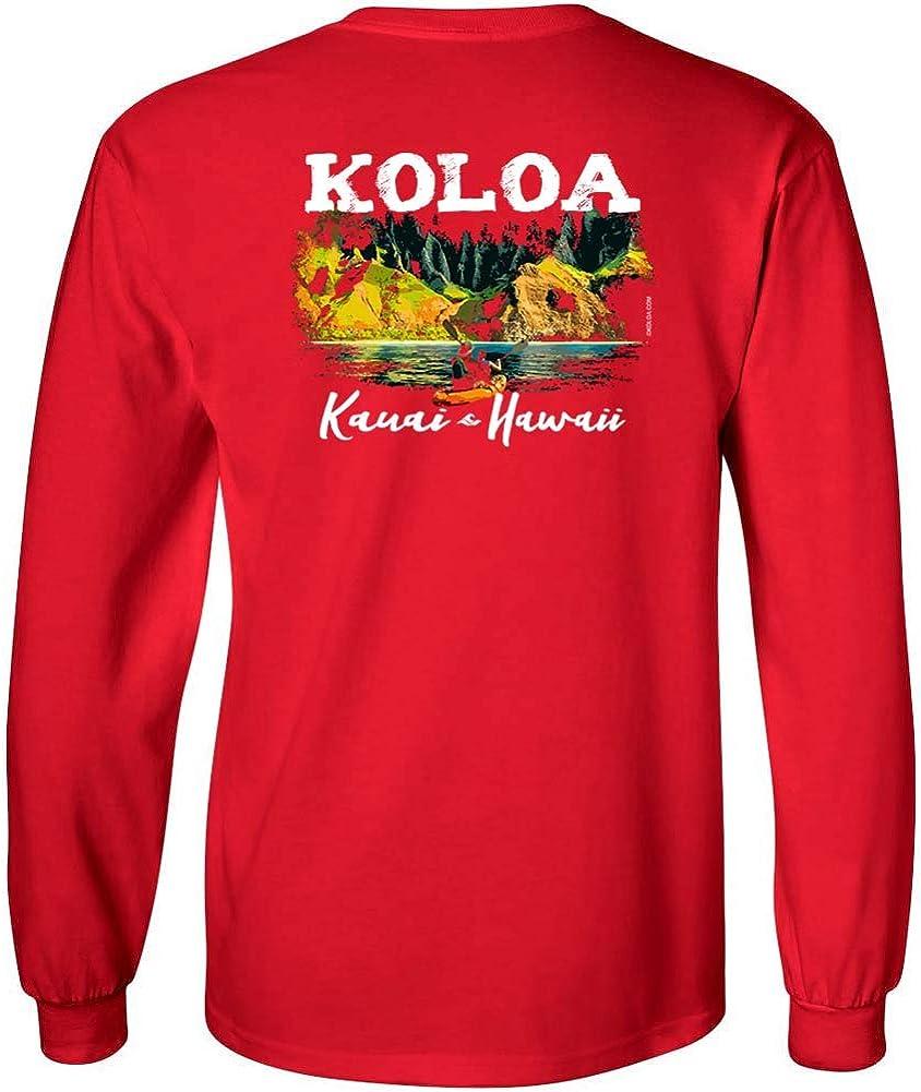 Koloa Surf Mens Kauai Coastline Classic Logo Long Sleeve Tee in Reg, Big and Tall