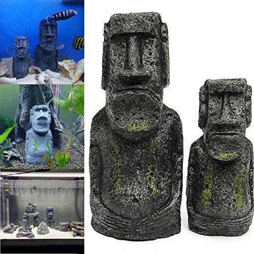 Bazaar 2 STKS hars paaseiland beelden set vis tank ornament Aquarium decoratie