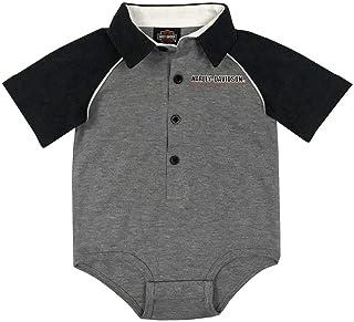 Dezzert030 Harley Sch/ädel Baby Jungen M/ädchen Kurzarm Onesies Bodysuit Baumwolle Strampler Outfits Schwarz